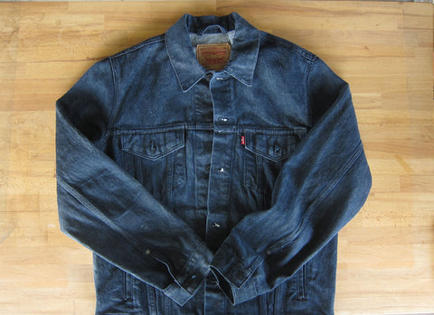 DIY Waxed levis jean denim jacket