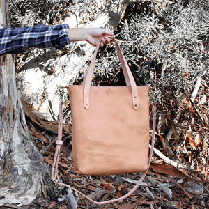 Veg Tan made in usa leather tote