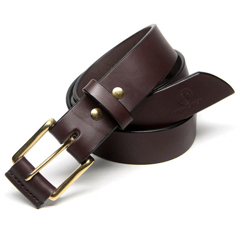 Custom Dark Brown Leather Belt