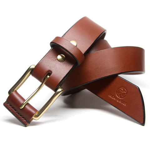 Bespoke Russet Saddle Tan English Bridle Leather Belt