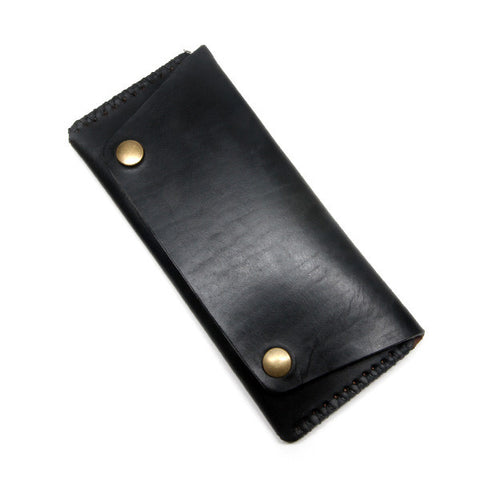 Black Horween Trucker Wallet