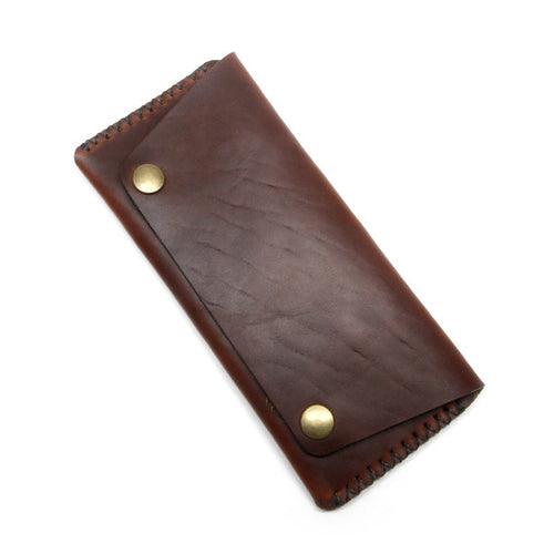 Brown Chromexcel Long Wallet