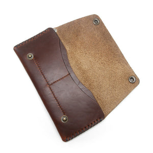Brown Chromexcel Trucker Wallet