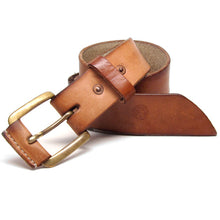 Load image into Gallery viewer, Aged Veg Tan Leather Belt