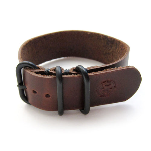 Horween Chromexcel Brown Leather Nato Wach Band