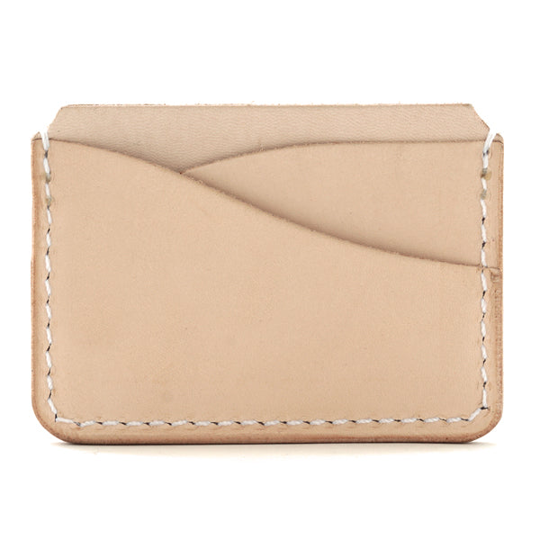 five pocket leather card holder back
