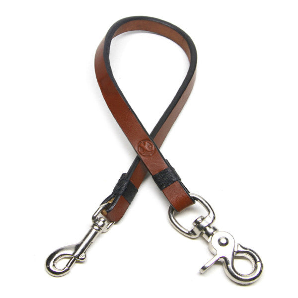 saddle tan leather wallet lanyard