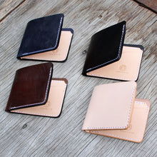 Load image into Gallery viewer, classic handmade made in usa billfold black brown indigo and natural