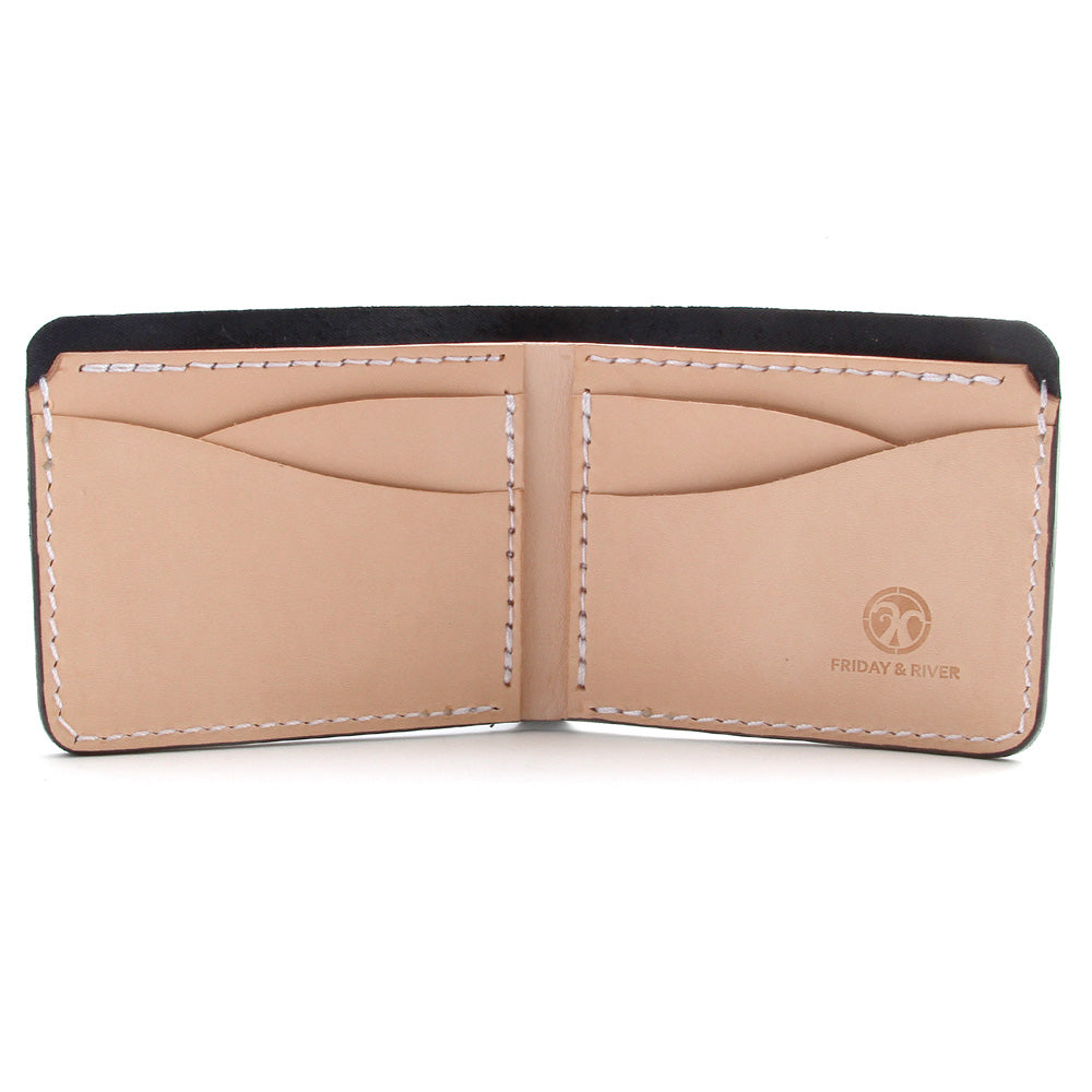 Classic 7 pocket leather billfold inside
