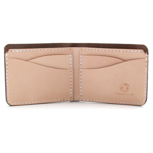 Horween tan leather wallet inside