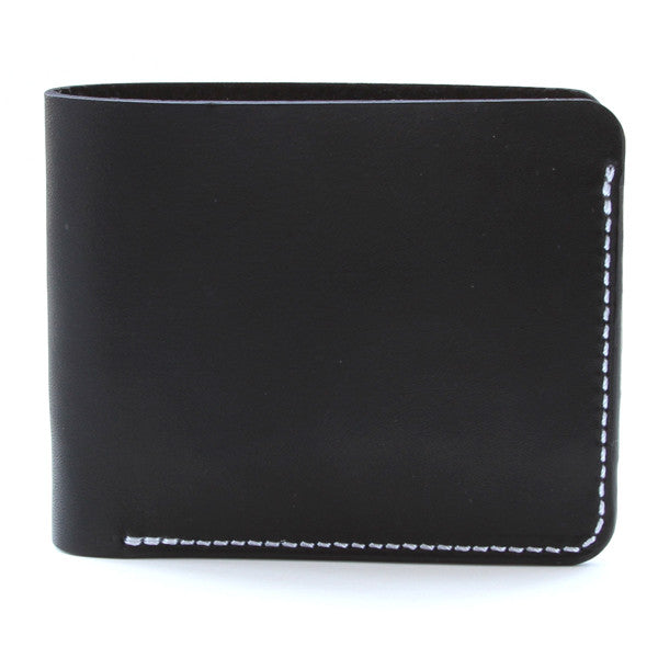 Black English Bridle Slim Wallet Side