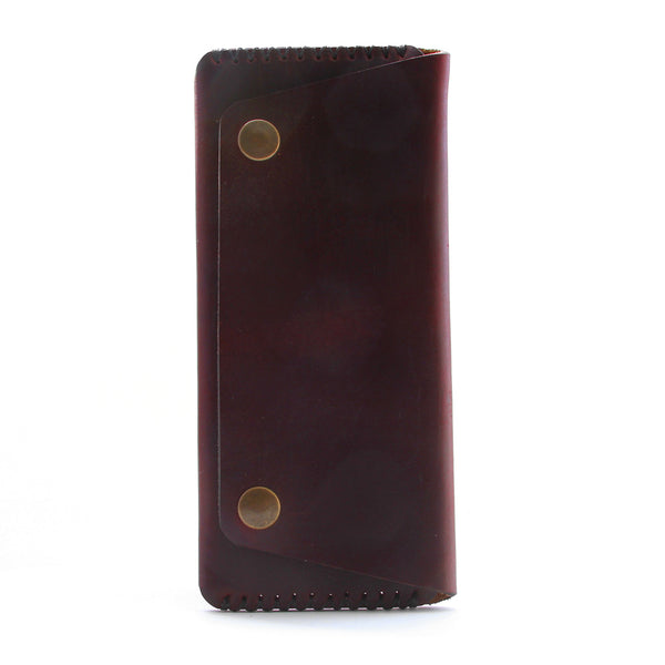 Discovery Long Wallet, Design Sample - Burgundy Horween Chromexcel