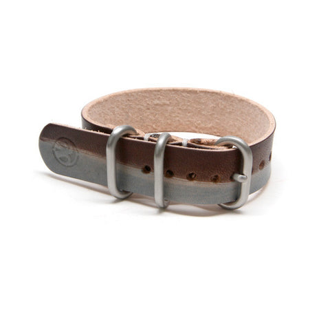 veg tan leather nato watch band