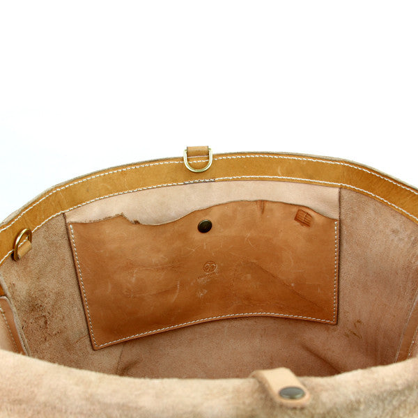 leather bag with pocket