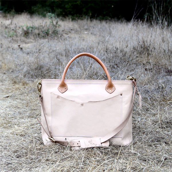 Leather veg tan satchel travel