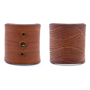 Brown leather bandana keeper woggle