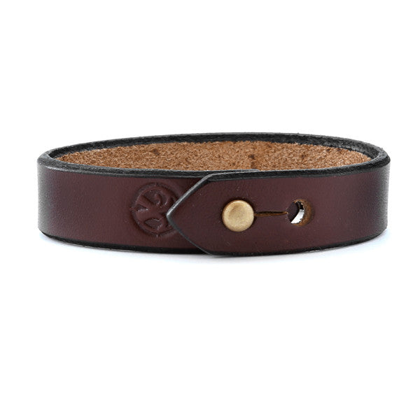 dark brown mens leather bracelet