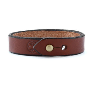 Brown mens leather bracelet