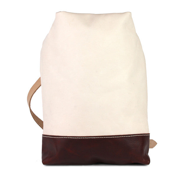Natural Vegetable tanned leather sling bag front