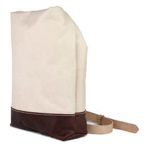 Natural Vegetable tanned horween chromexcel leather sling bag side