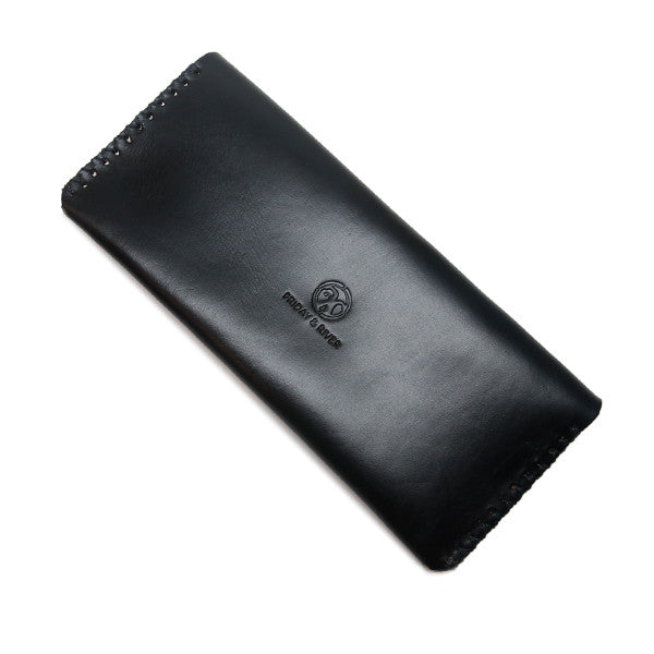 black leather pencil pouch back