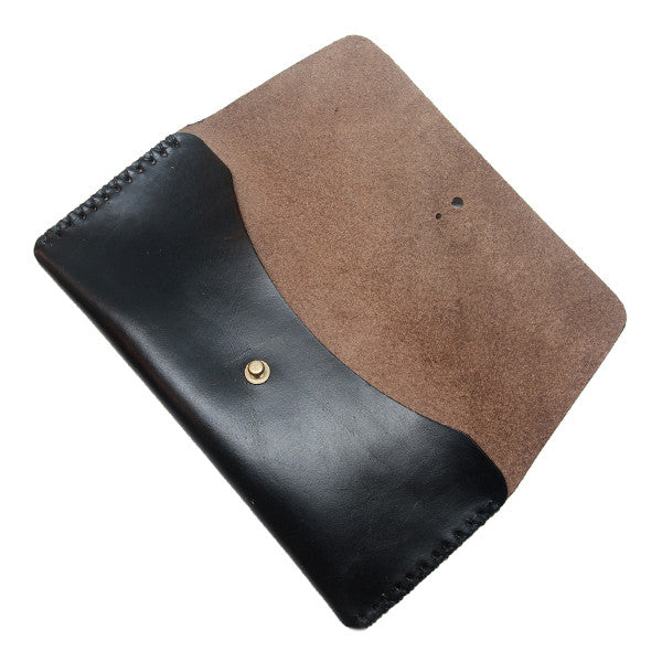 black chormexcel leather pencil case open