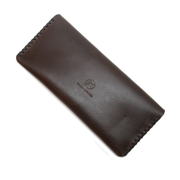 Long horween leather pouch, Olive