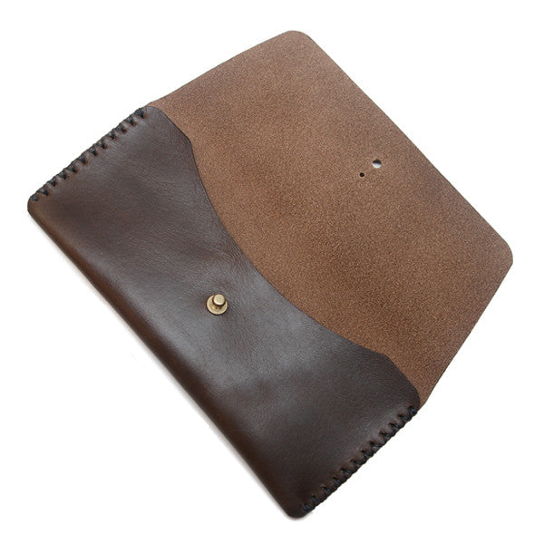 Horween leather pen case open