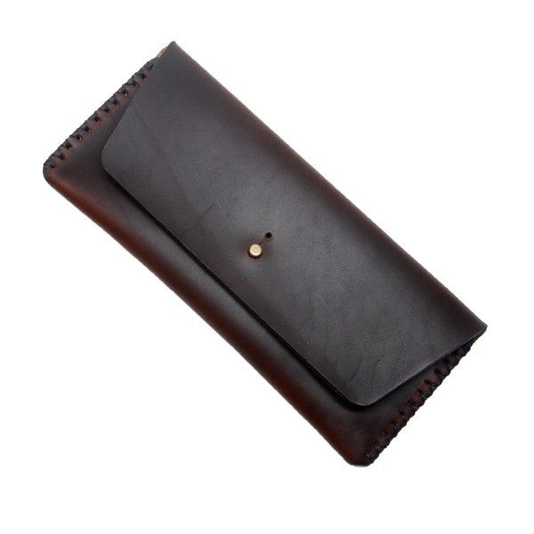 Horween brown leather pencil case