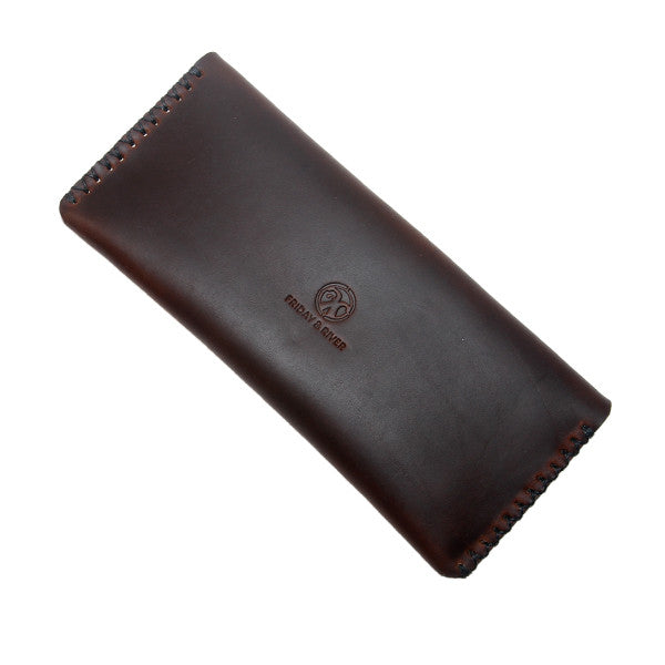 Horween chromexcel brown leather pouch