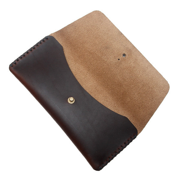 Brown leather pen pouch