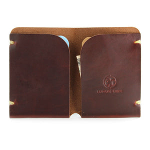 Tan Horween Chromexcel Minimal Card Holder Open