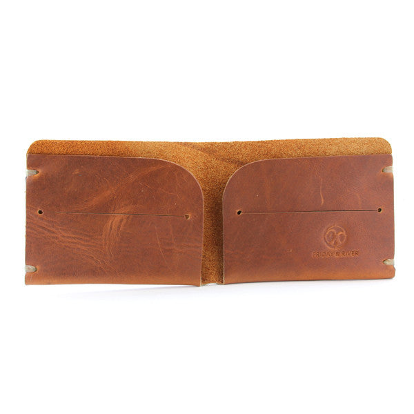 Horween minimal leather billfold