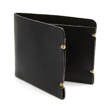 Load image into Gallery viewer, McGraw Black English Bridle Leather Minimal Wallet