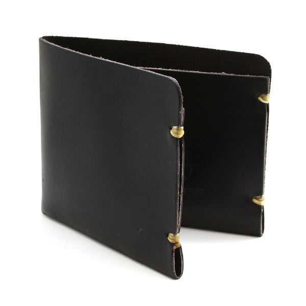 McGraw Black English Bridle Leather Minimal Wallet