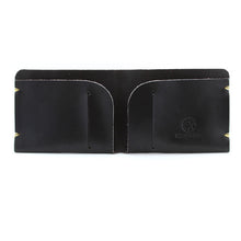 Load image into Gallery viewer, McGraw Black English Bridle Leather Wallet Open