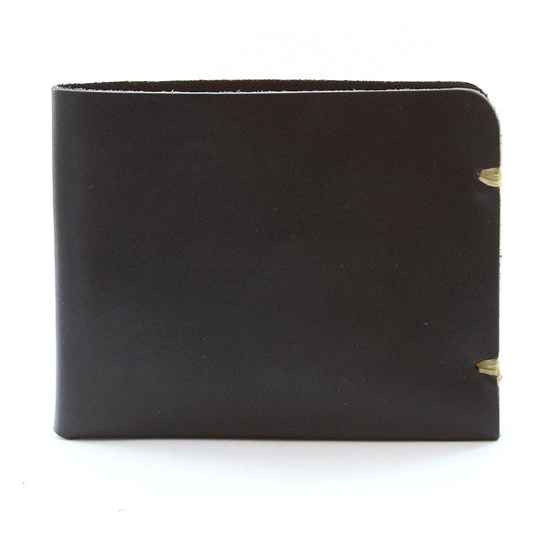 McGraw Black English Bridle Leather Wallet