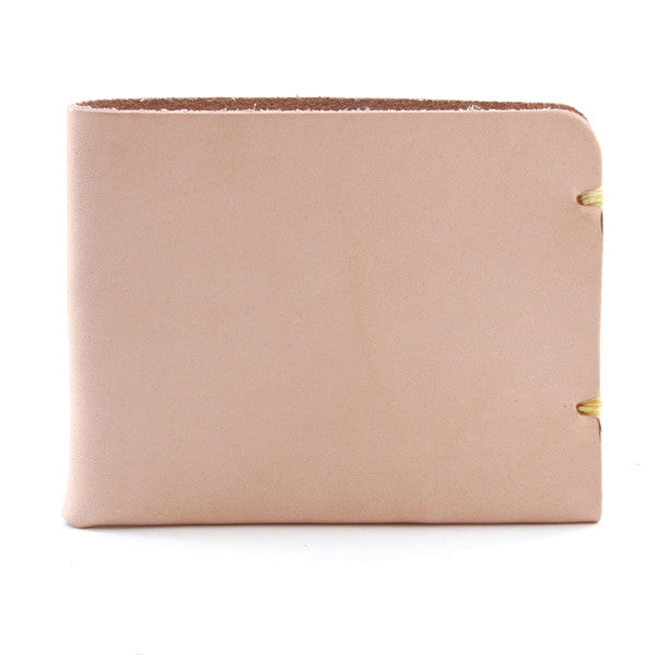 McGraw Natural Veg Tan Minimal Leather Wallet