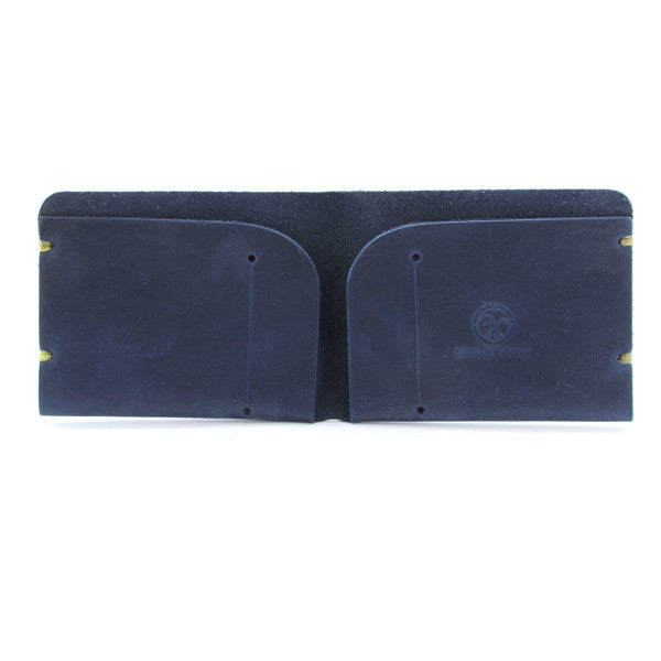 McGraw Oiled Indigo Leather Wallet Open