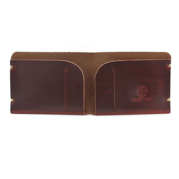 McGraw Tan Brown Horween Chromexcel Billfold Open