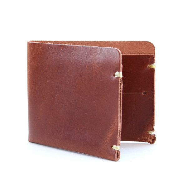 Whiskey brown leather billfold