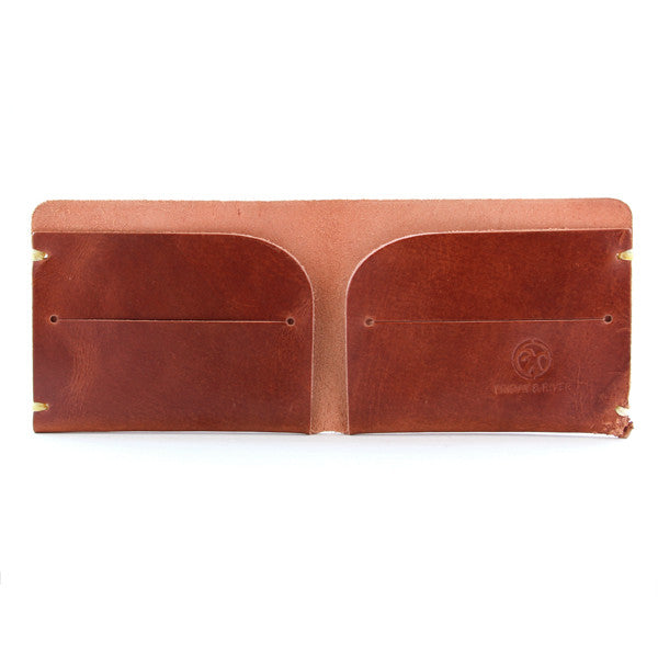 Whiskey brown leather wallet