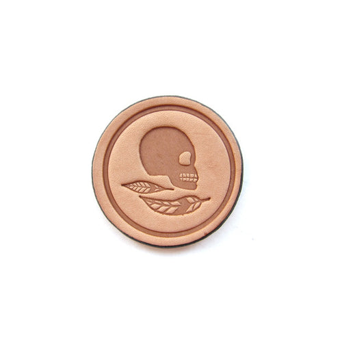 Leather Momento Mori Coin Stoic