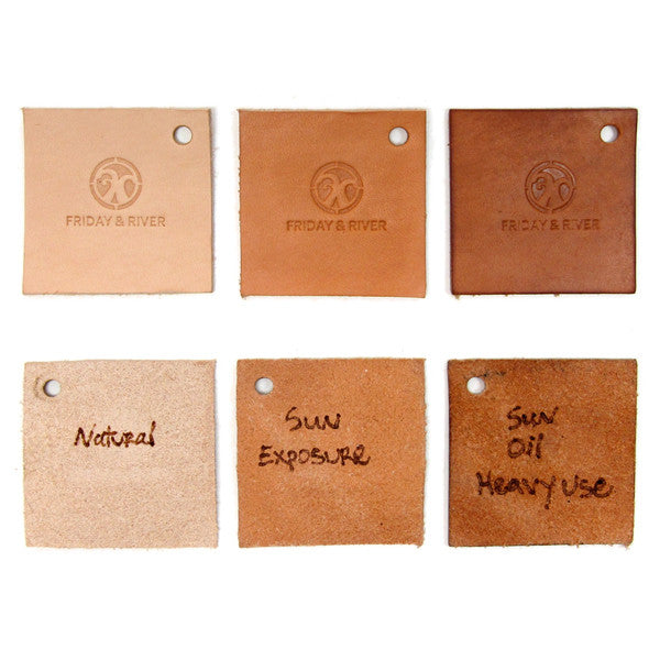 Natural veg tan wallet evolution