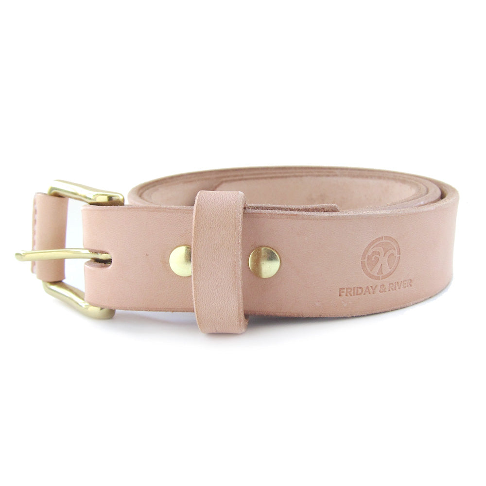 "Classic Leather Belt, Second - 1.25"" - Natural"