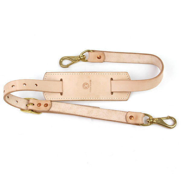 natural veg tan leather shoulder strap