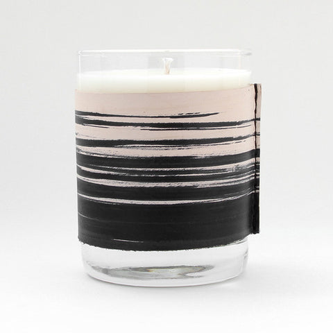 Leather tobacco amber soy candle