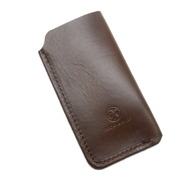 Horween Brown Leather iPhone Sleeve Back