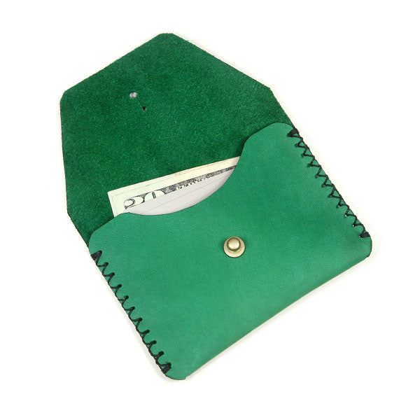green horween leather pouch
