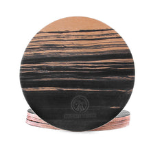 Load image into Gallery viewer, hand dyed Natural veg tan leather coasters